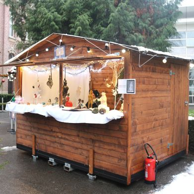Location chalet hiver Noël marché commerce france nord