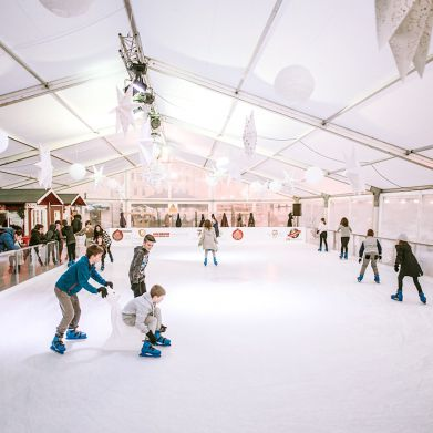Patinoire glace naturelle