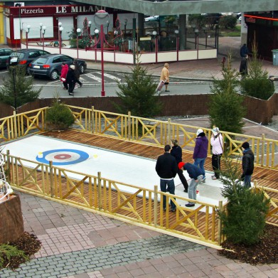 Location piste de curling en ville